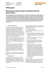 White paper:  Mounting encoder scales for optimum thermal performance