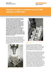 News release:  Renishaw focuses on machine tool and CMM utilisation at EMO 2009