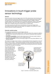 White paper:  TE411 - Innovations in touch trigger probe sensor technology