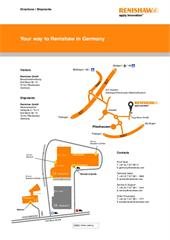 Flyer:  Your way to Renishaw in Germany