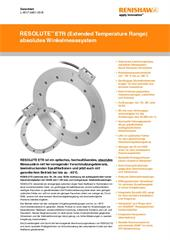 Datenblatt:  RESOLUTE™ ETR (Extended Temperature Range) absolutes Winkelmess-System