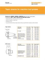 Data sheet: Taper shanks for machine tool probes
