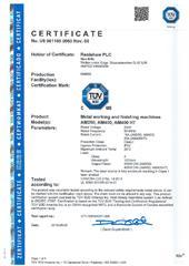 Certificate (TUV): AM250-400.pdf
