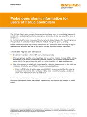 Probe open alarm: information for users of Fanuc controllers
