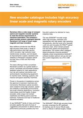 News article: New encoder catalogue includes high accuracy linear scale and magnetic rotary encoders