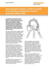 Zprávy: Nové absolutní lineární a rotační snímače firmy Renishaw představují revoluci v polohové zpětné vazbě
