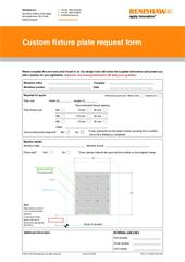 Custom fixture plate request form