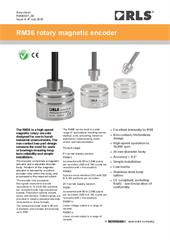 Data sheet:  RM36 series non-contact rotary encoders