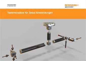 Technische Daten: Tastereinsätze und Zubehör für Koordinatenmessgeräte Fabrikat Zeiss