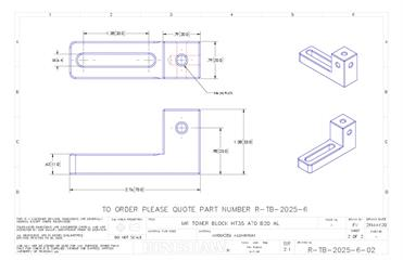 Technical drawing:  M6 Tower block with base