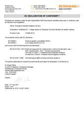 Certificate (CE): Dynascan Interface Adapter (IA) Box ECD-YK2017-001B