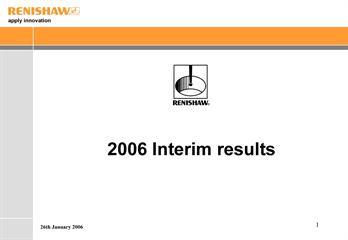Presentation: Unaudited 2006 interim results