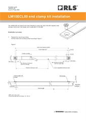 Installation guide:  LM10ECL00 end clamp kit installation