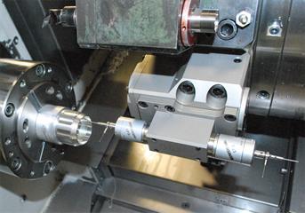 LP2 twin touch probe installation on a Mori-Seiki mill-turn machine at Renishaw's Stonehouse machine shop