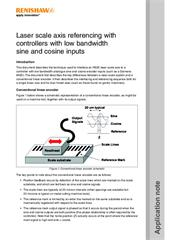 Application note: Laser scale axis referencing with controllers with low bandwidth sine and cosine inputs