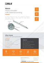 Flyer:  RM44 rotary encoder with external zeroing