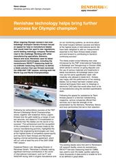 News release:  Renishaw technology helps bring further success for Olympic champion